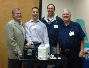 L to R: Friend of ProAxion Larry Steffan, CEO Justin Rothwell, CTO Elliot Poger, and Lead Investor Mark Easley